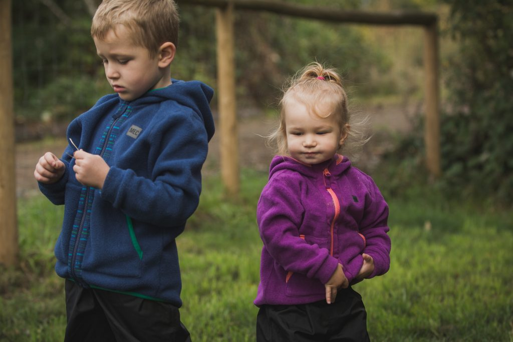 Brother and Sister at Hazelmere Pumpkin Patch